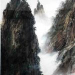 Inspiration From Yellow Mountain, Chinese Brush Painting by Amy Da- Peng King