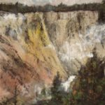 Yellowstone Grand Canyon, contemporary Chinese brush painting by Amy Da-Peng King