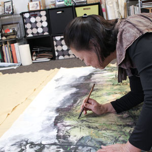 Amy Da-Peng King, in her studio