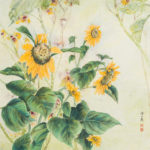 Contemporary Chinese Brush Painting of Sunflowers