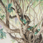 Contemporary Landscape Painting of tangled vine limbs