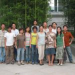 Amy Da-Peng King with her classmates at the China Art Academy