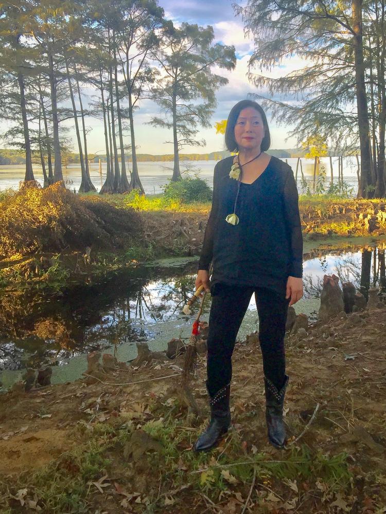 Amy Da-Peng King at Lake Caddo, Texas.