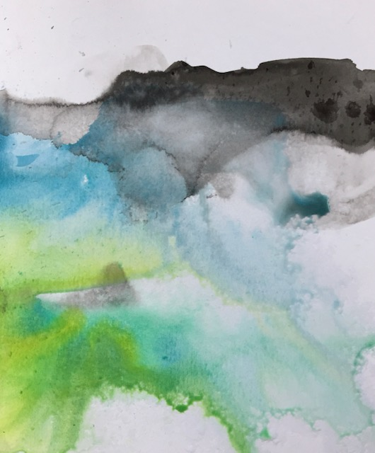 Fine art painting by Amy Da-Peng King from Chineses brush painting series Weather Report